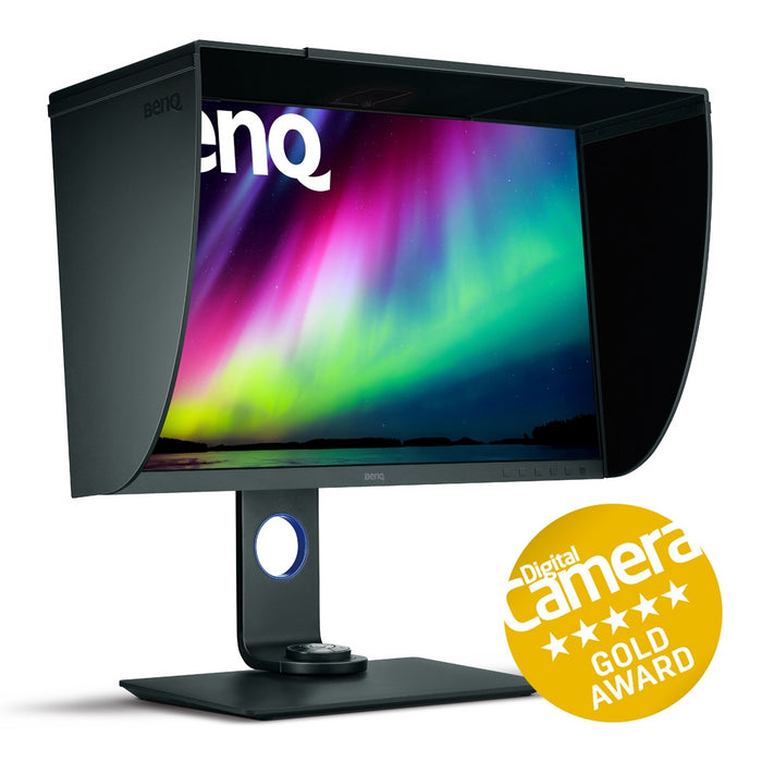 BenQ SW271 Pro 27in IPS LCD Monitor Left View with Hood