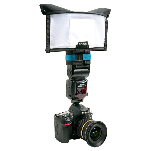 Small Soft Box Kit Mounted on Camera