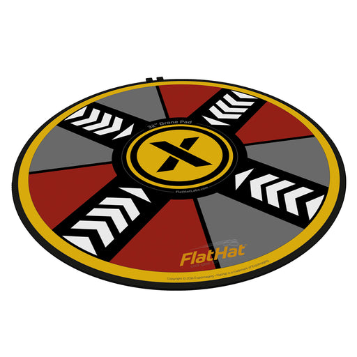 ExpoImaging FlatHat 32in (80cm) Drone Pad - Gold Red