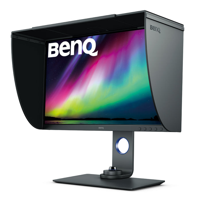 BenQ SW270C Photographer Monitor with Shade Side View