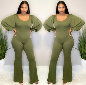 No Stress Jumpsuit (Olive)
