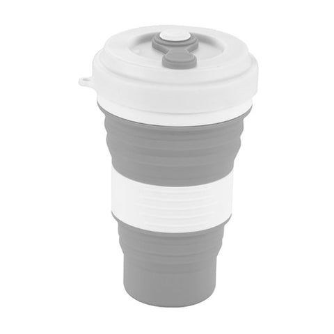 Reusable Folding Silicone Travel Cup 550ml