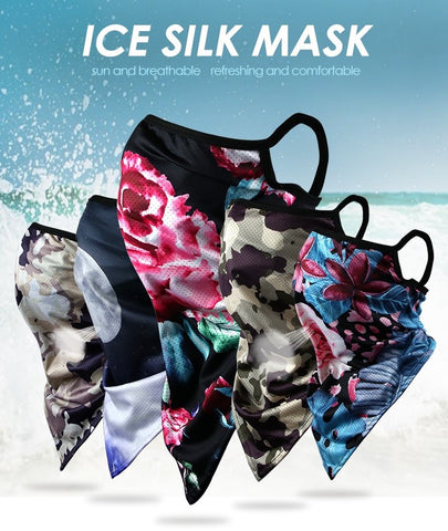 Silk Tube Scarf Mask