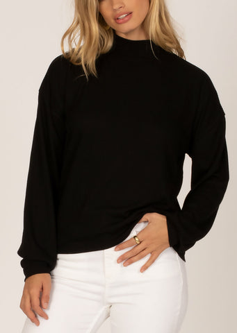 Amuse Society Women's Happy Place Longsleeve Sweater