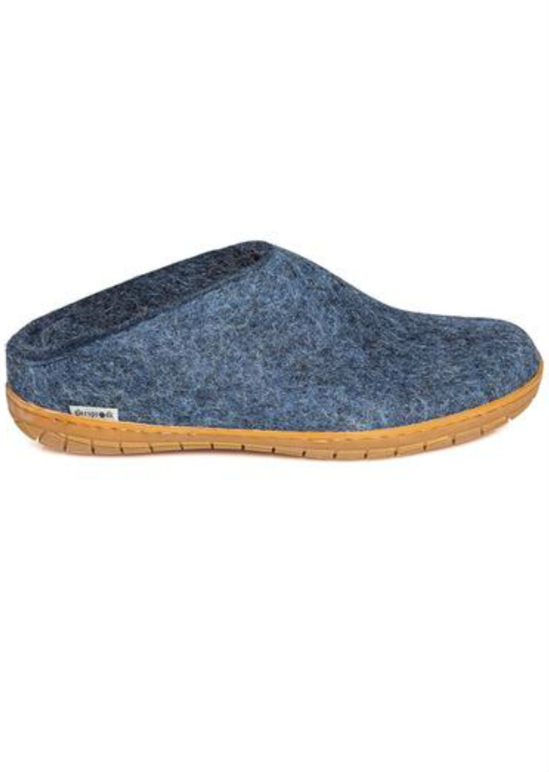 Glerups Unisex Natural Rubber Open Heel Slippers Denim