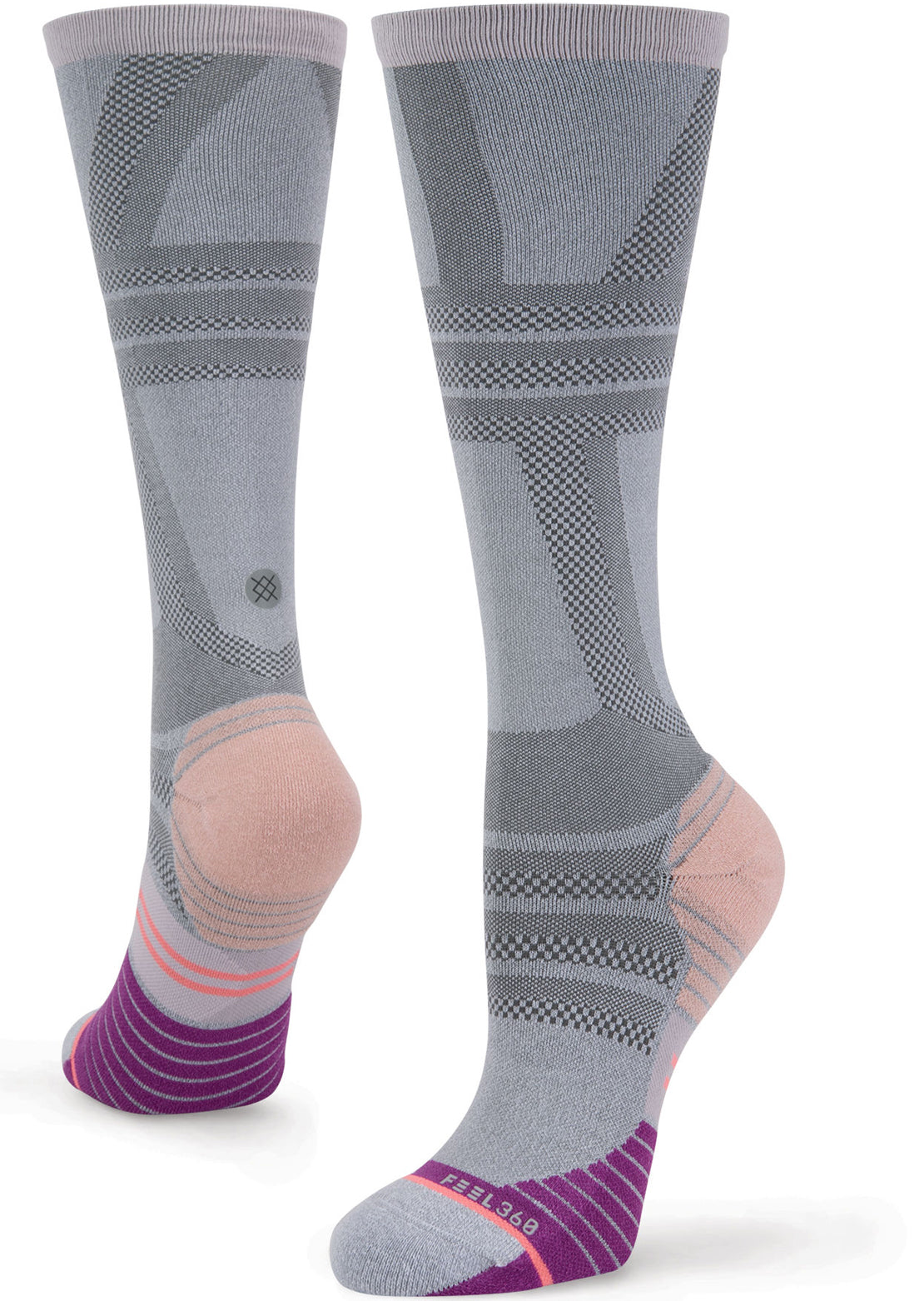 Stance Women's Long Distance OTC Running Socks Grey