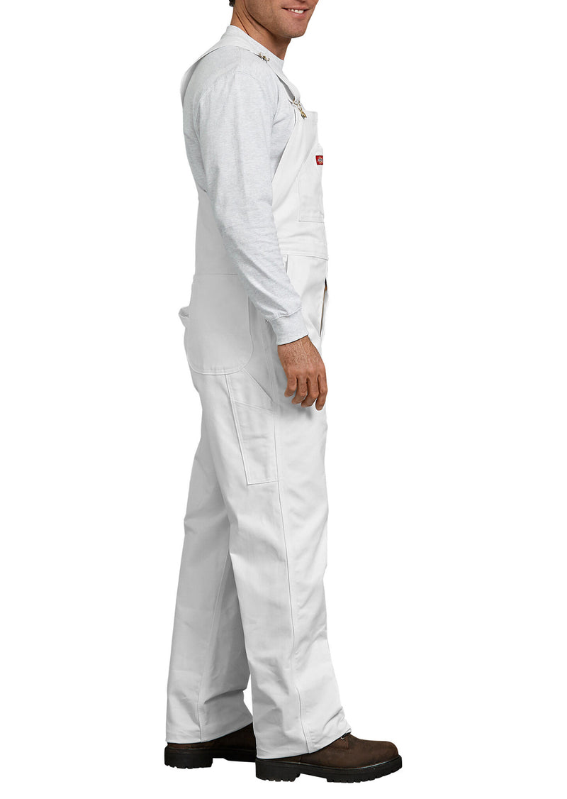 Dickies Women's Painters Bib Overalls White