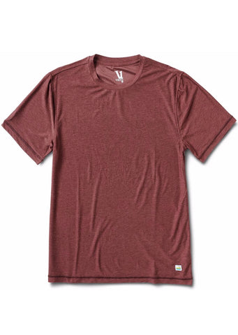 Vuori Men's Strato Tech T-Shirt Fig Heather