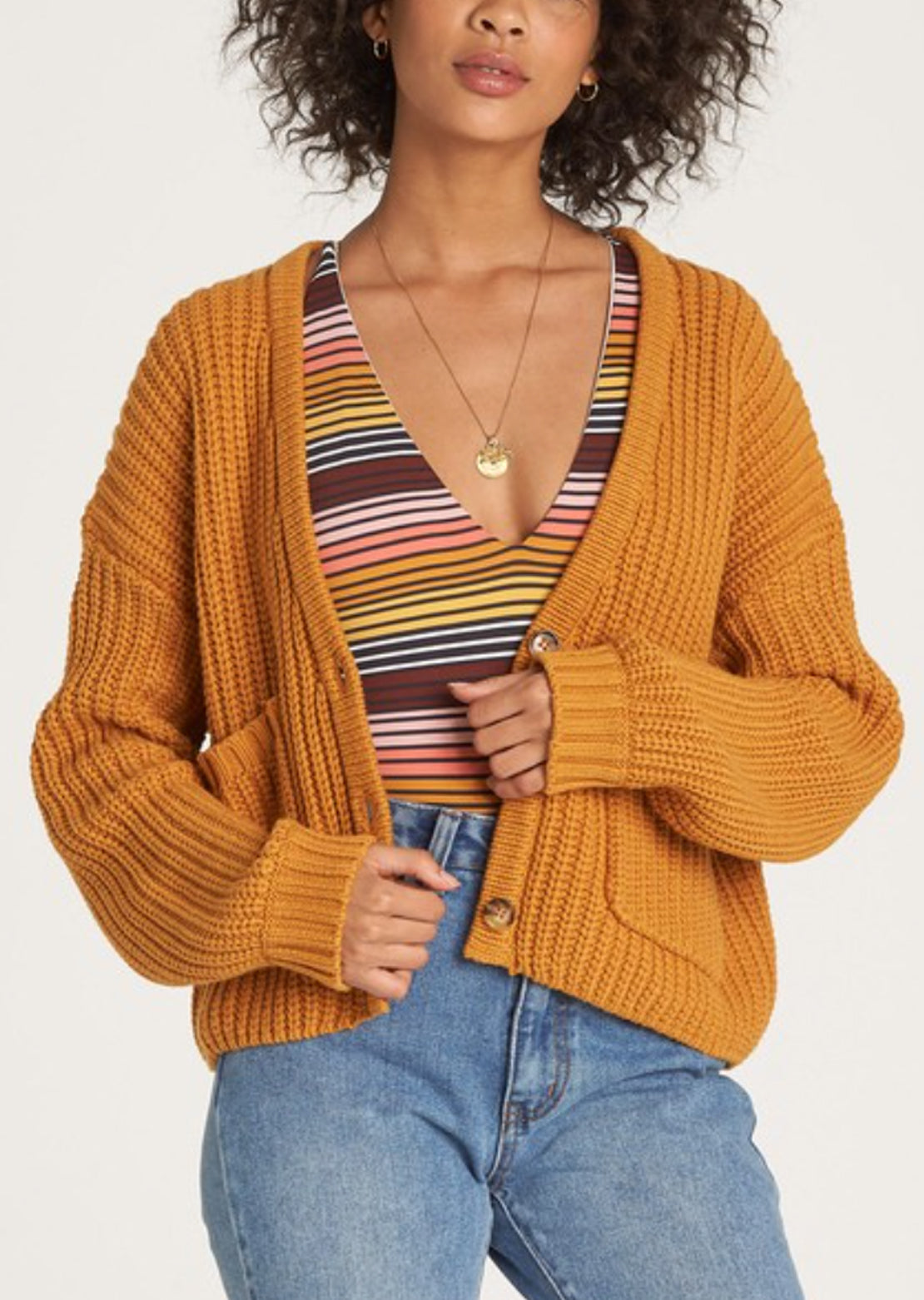 Billabong Women's Cali Nights Sweater Golden Haze
