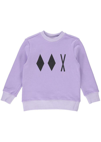 Birdz Junior Double Diamond Crewneck Sweater Lilac