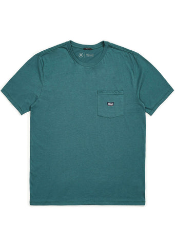 Brixton Men's Stith IV Pocket T-Shirt Emerald