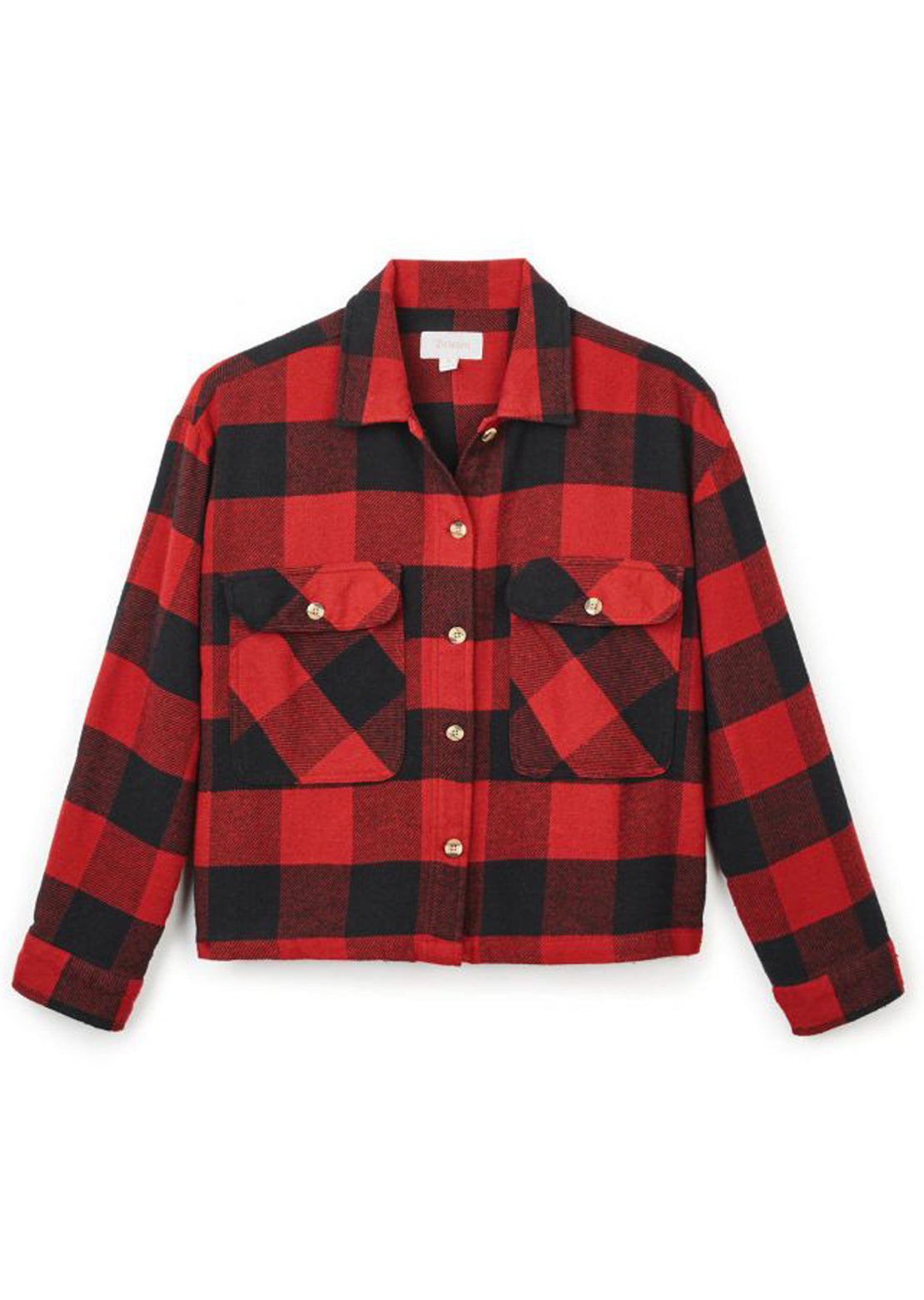 Brixton Women's Astoria Longsleeve Flannel Button Up Shirt Cardinal