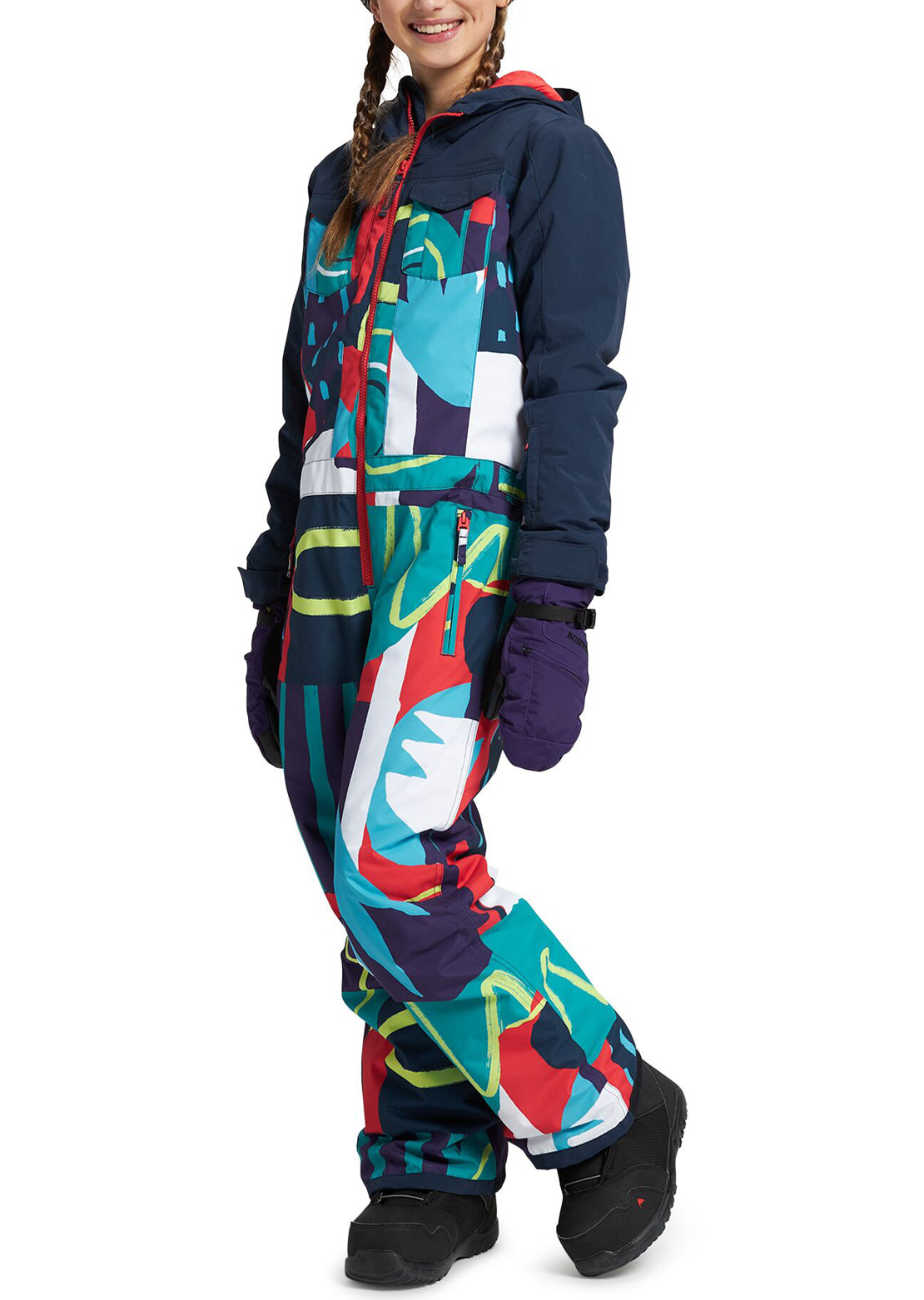 Burton Junior Game Piece One Piece Graphic Mix/Dress Blue