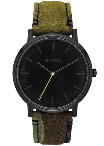 Nixon Men's Porter Leather Watch