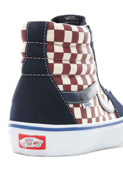 Vans Men's Checker Sk8-Hi Pro Shoes Dress Blues