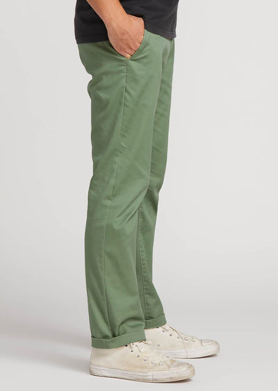 Volcom Men's Frickin Modern Stretch Chino Pants Faded Army