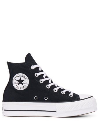 Converse Women's Chuck Taylor All Star Lift Hi Top Shoes Black/White