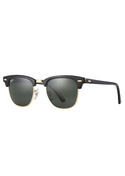 Ray Ban Clubmaster RB3016 Sunglasses Black/Green Classic G-15