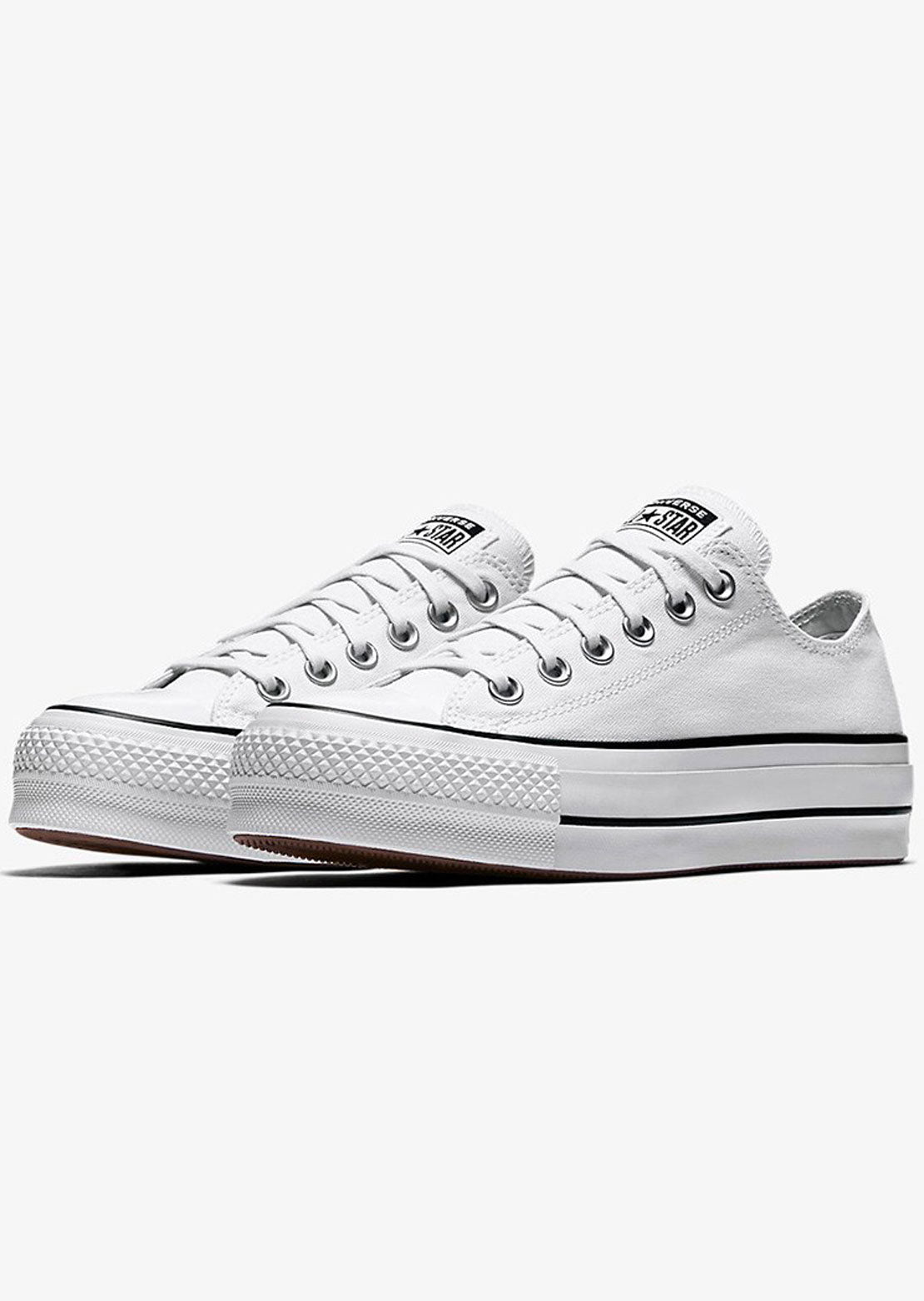 Converse Women's Chuck Taylor OX Lift Platform Shoes 560251C White/Black