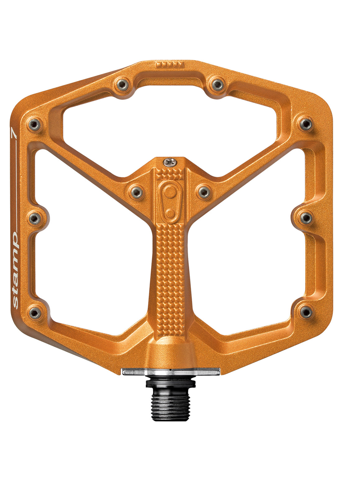 Crank Brothers Stamp 7 Large Mountain Bike Pedals Orange