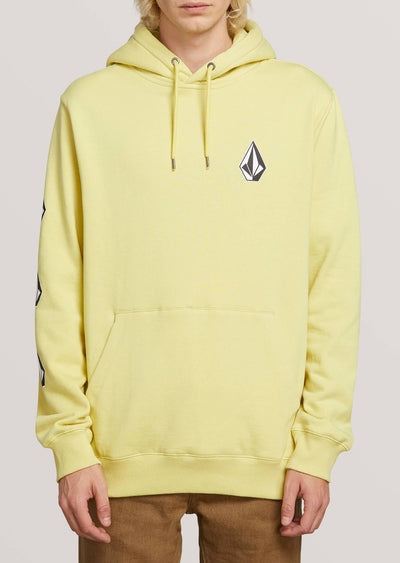 Volcom Men's Deadly Stone Pullover Hoodie Lime