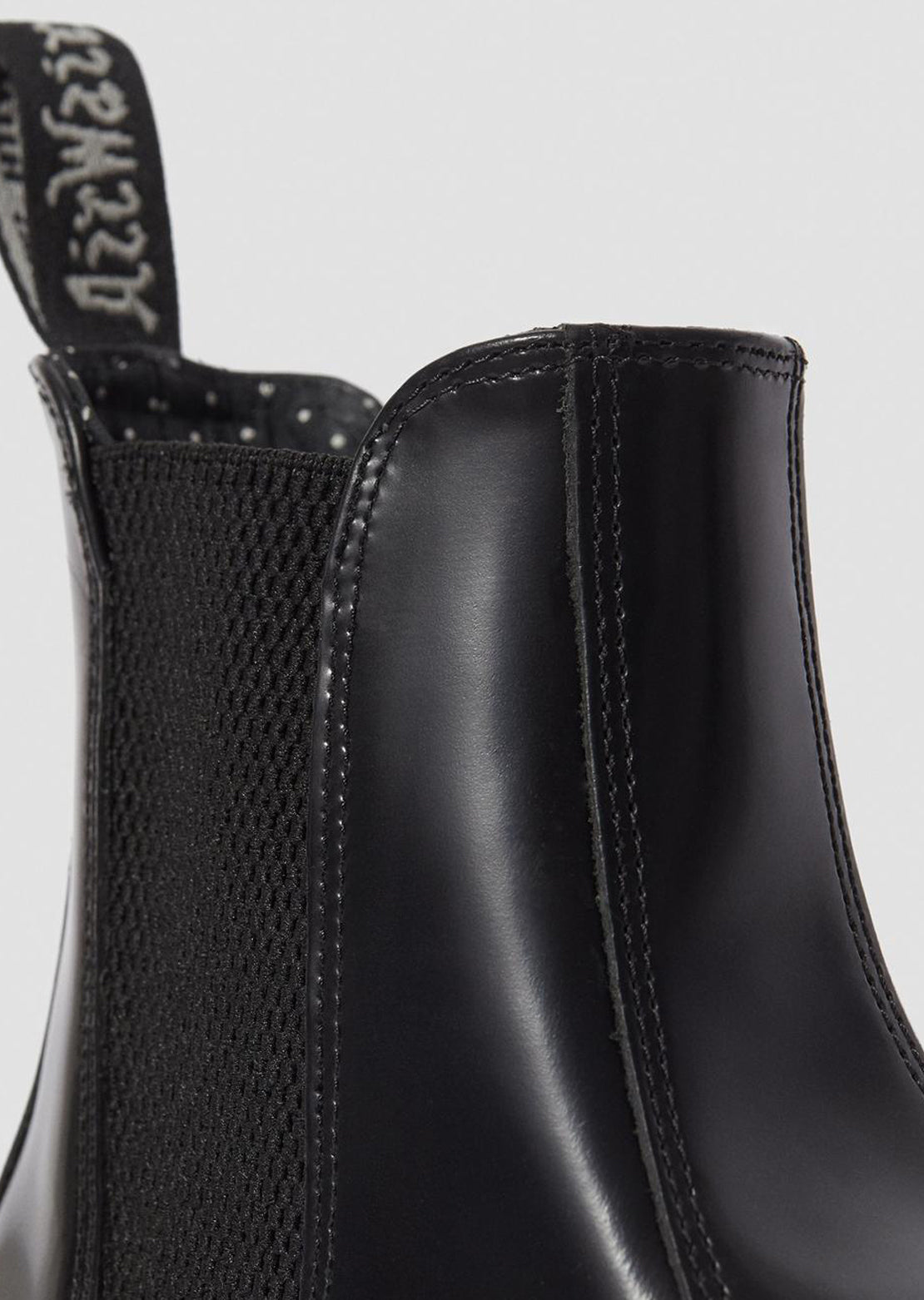 Dr.Martens Women's Flora Boots Polished Smooth Black