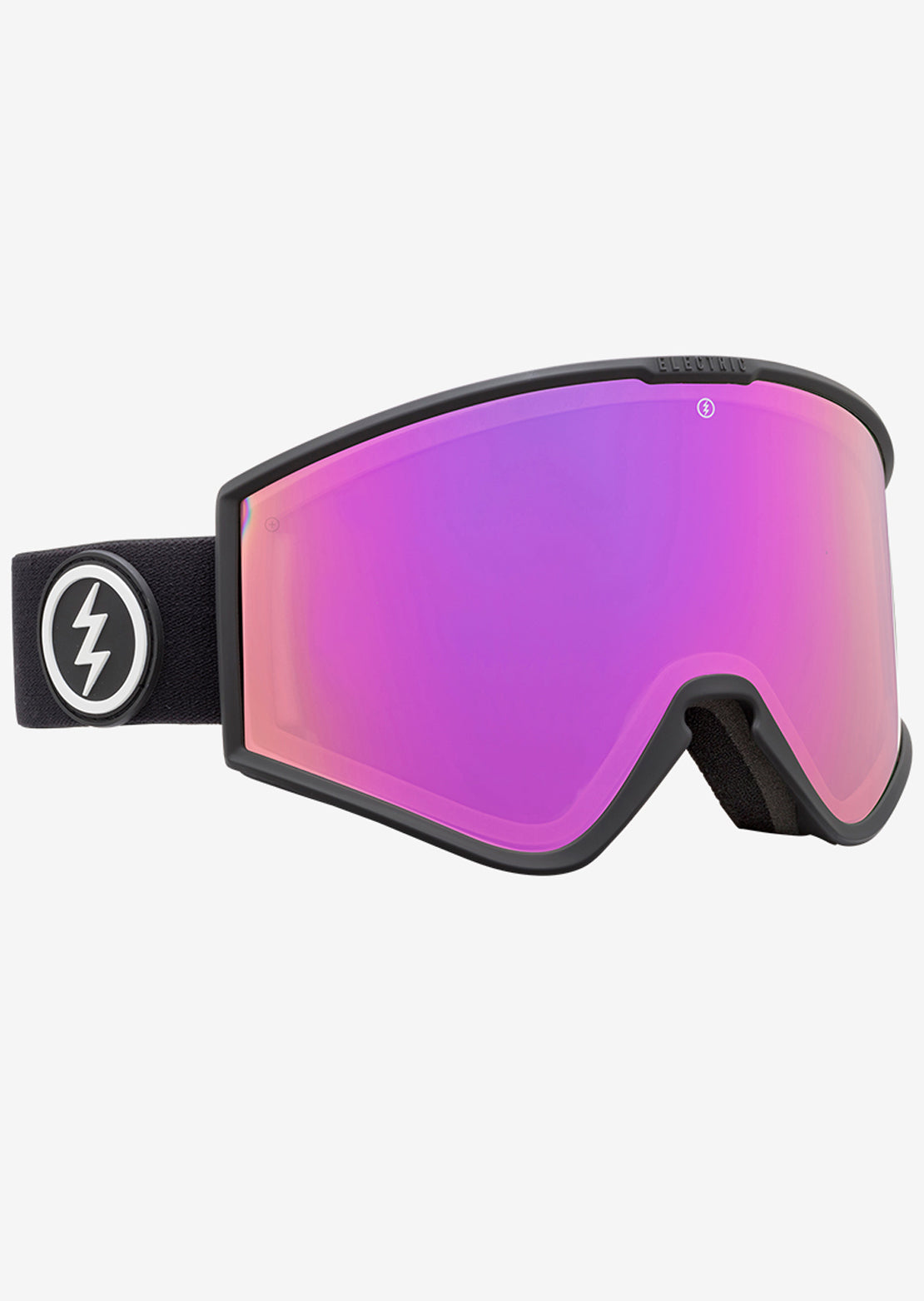 Electric Kleveland+ Snow Goggles Matte Black/Brose Pink Chrome/Yellow Green