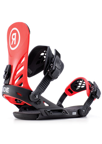 Ride Men's EX Snowboard Bindings Red