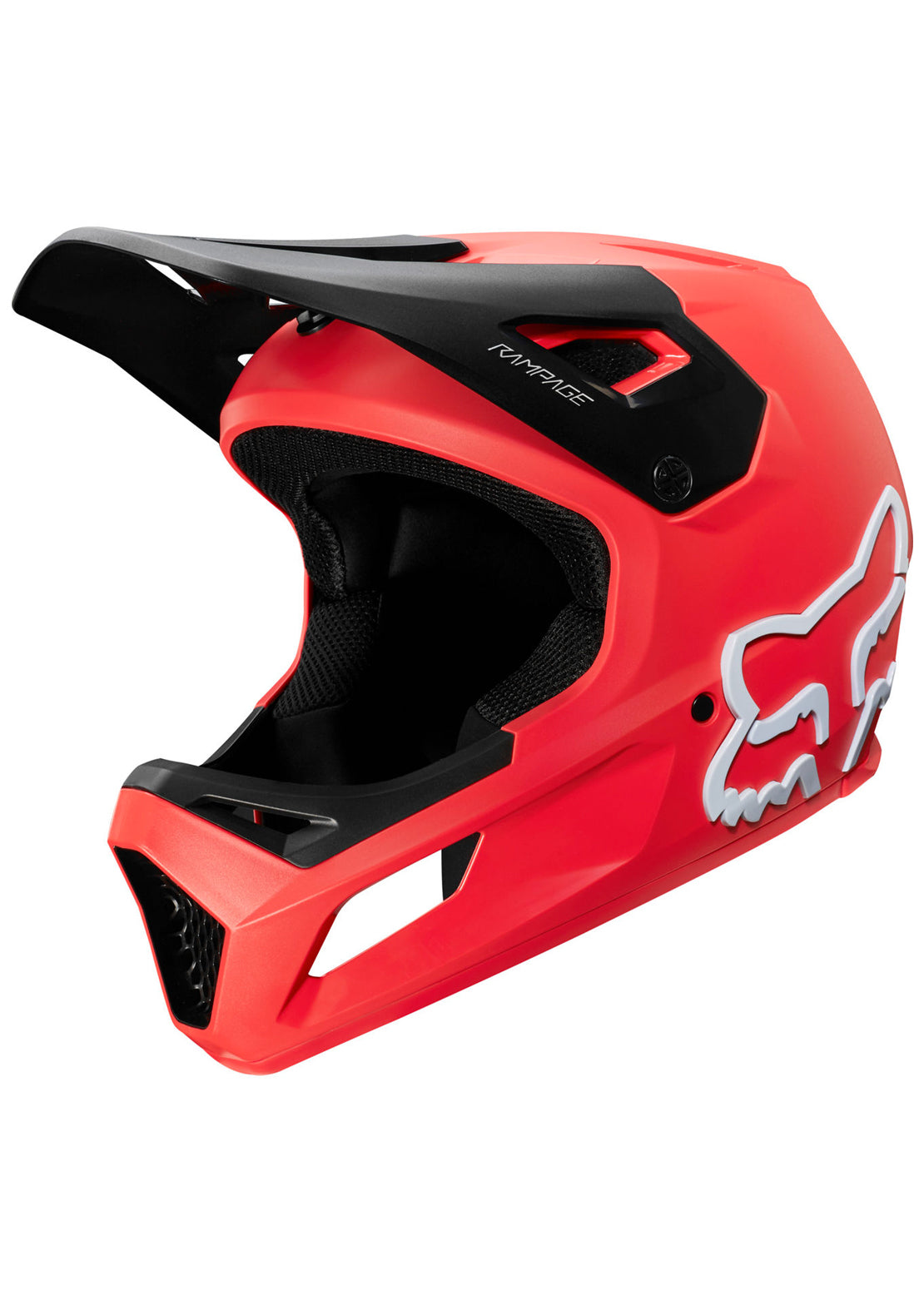Fox Junior Youth Rampage Full Face Mountain Bike Helmet Bright Red