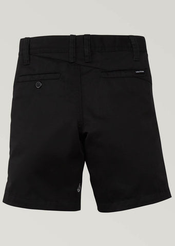 Volcom Junior Frickin Chino Shorts Black