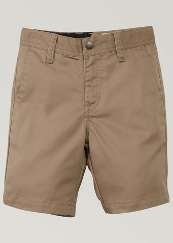 Volcom Junior Frickin Chino Shorts Khaki