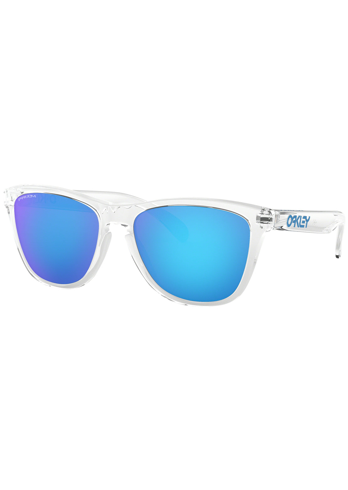 Oakley Men's Frogskins Sunglasses Crystal Clear/Prizm Sapphire Iridium