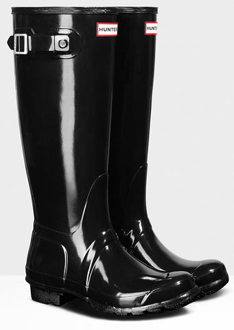 Hunter Women's Original Tall Gloss Boots - Front Side