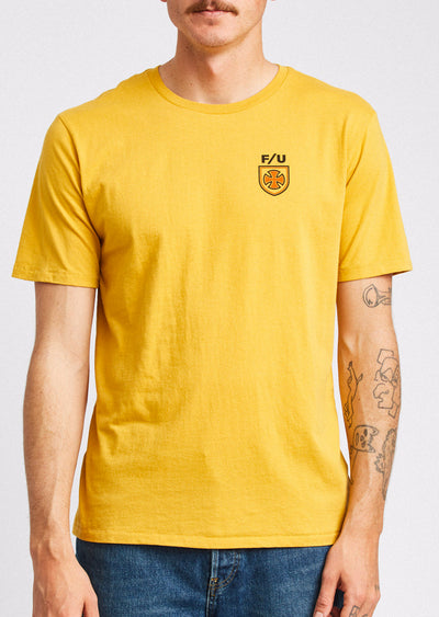 Brixton X Independent Men's Hedge T-Shirt Yellow