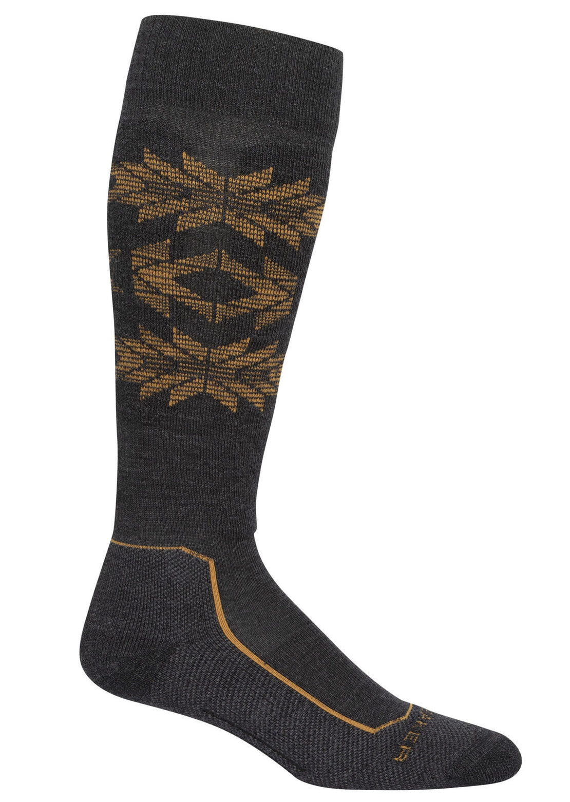 Icebreaker Men's Merino Ski+ Light Over The Calf Socks Jet Heather