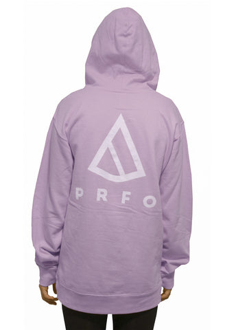 PRFO Women's Icon Front & Back Oversized Hoodie Lavender