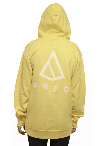 PRFO Women's Icon Front & Back Oversized Hoodie Light Yellow
