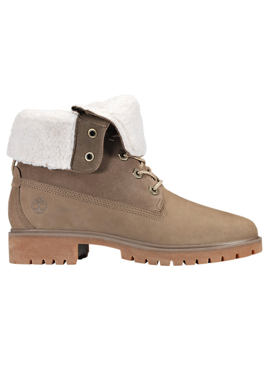 Timberland Women's Jayne Teddy Fleece Waterproof Boots Light Brown Nubuck