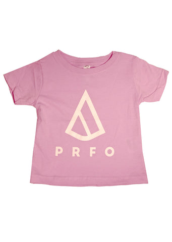 PRFO Junior Toddler Icon Fine Jersey T-Shirt Pink/White