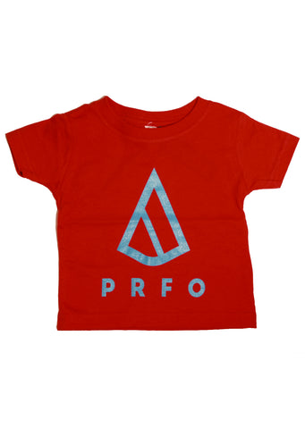 PRFO Junior Toddler Icon Fine Jersey T-Shirt Red/Blue