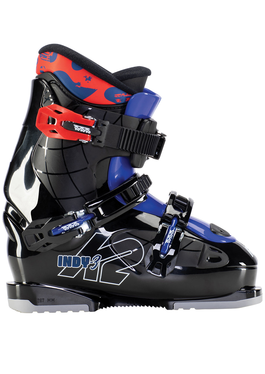 K2 Junior Indy 3 Ski Boots Black/Red