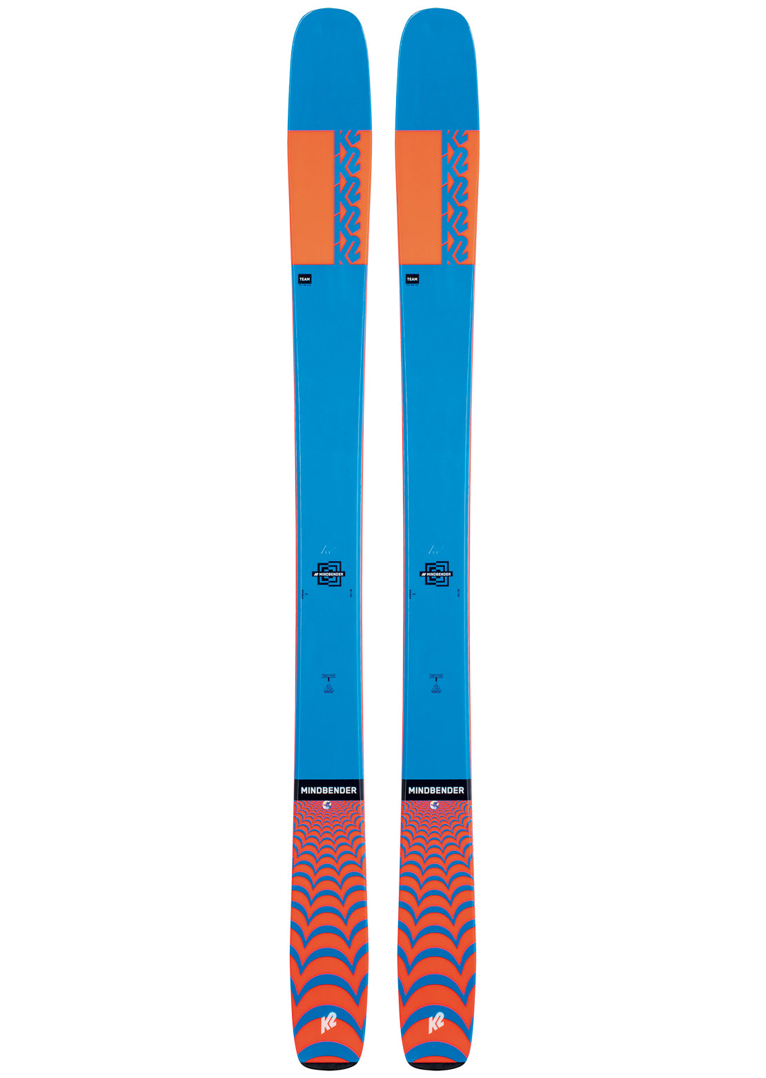 K2 Junior Mindbender Team Ski - 145 cm Blue/Orange
