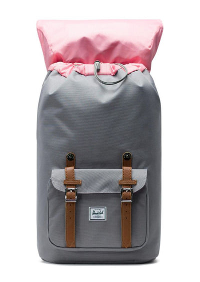 Herschel Little America Backpack Grey/Tan Synthetic Leather
