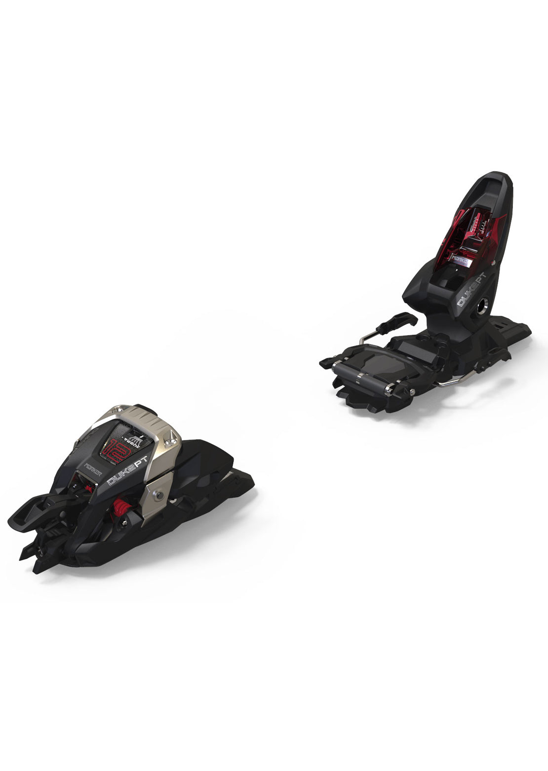 Marker Duke PT 12 Ski Bindings - 100 mm Black/Red