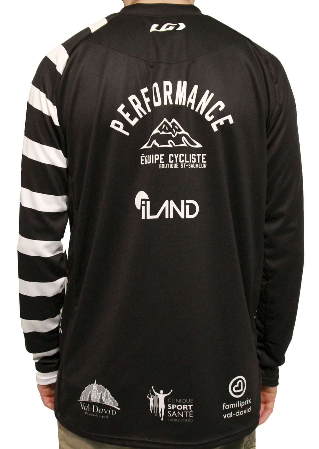 Garneau X PRFO Men's MTB Longsleeve Light Airdry Jersey Black/White