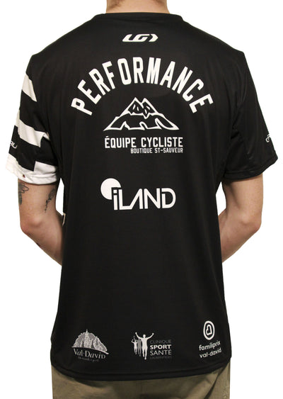 Garneau X PRFO Men's Team-T Zircon Short Sleeve Jersey Black/White