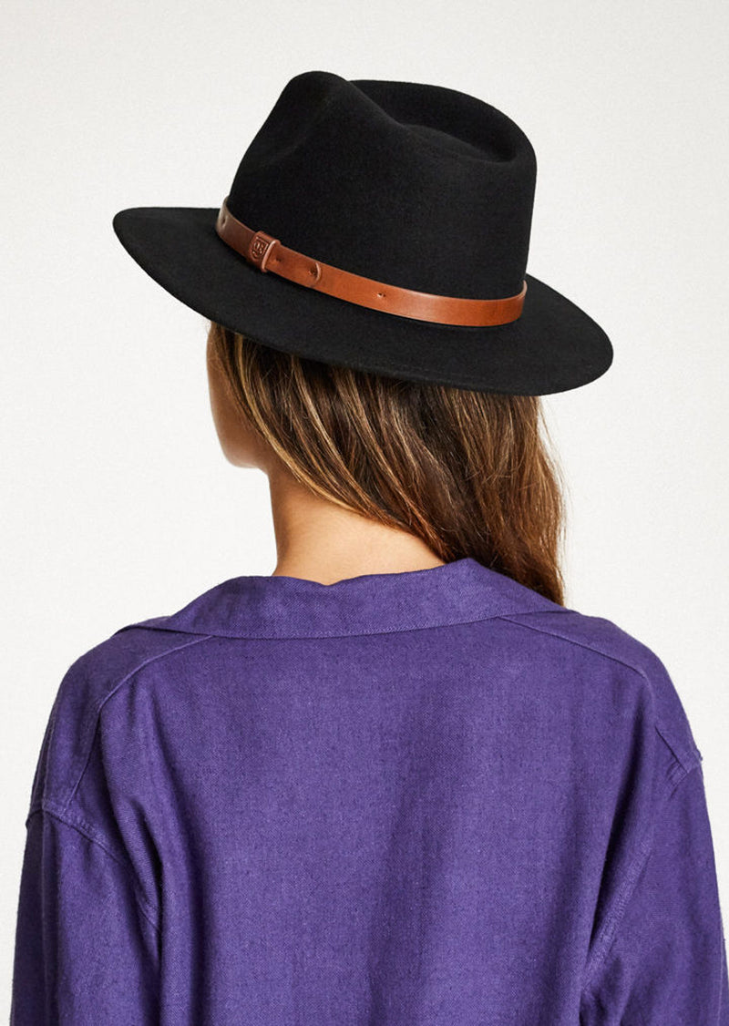 Brixton Messer Fedora Hat Black