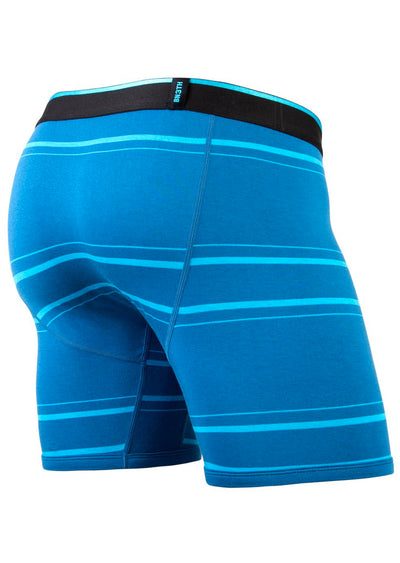 BN3TH Men's Modal Print Brief Boxer Nice Stripe Teal
