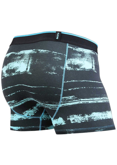 BN3TH Men's Modal Print Trunk Boxer Distripe Teal