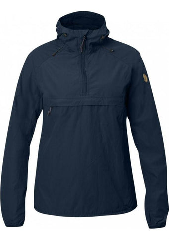 Fjallraven Women's High Coast Wind Anorak - Navy